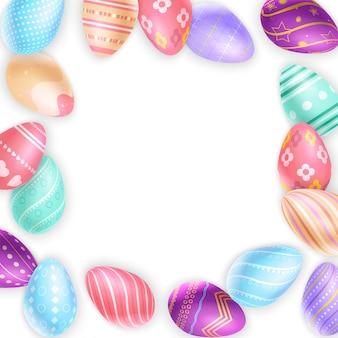 Confine dallo sfondo di uova di pasqua