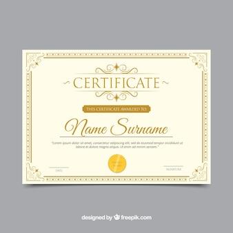 Confine del certificato con ornamenti