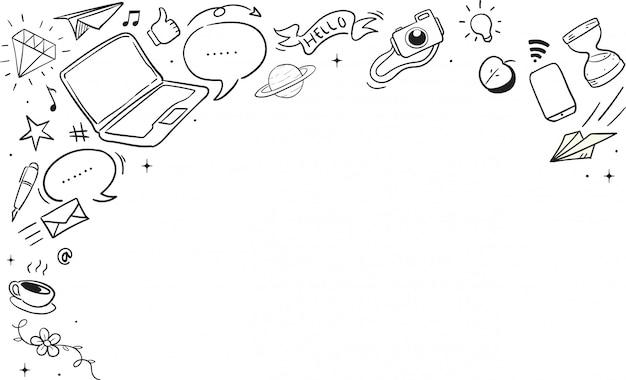Confine dell'illustrazione di internet