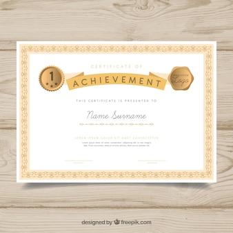 Confine di certificato ornamentale con stile vintage