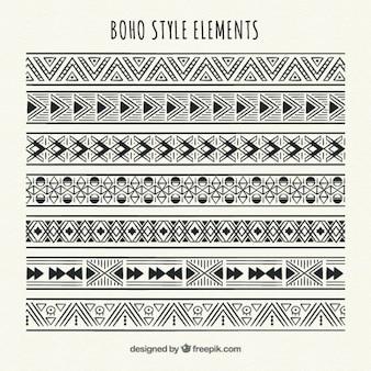 Confini etnici geometrici hanno impostato