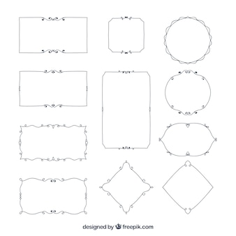 Confini ornamentali elegante set