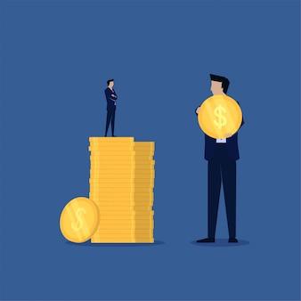 Confronta le piccole imprese con un alto profitto e un grande business con un basso profitto.