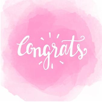 Congratulazioni per l'acquerello