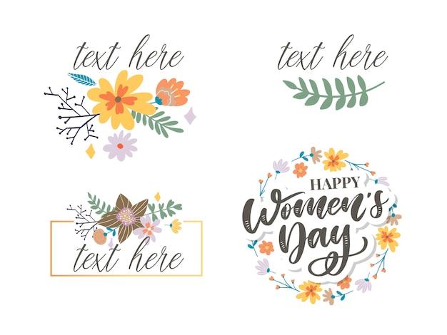 Congratulazioni per la festa della donna felice