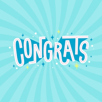 Congratulazioni scritte disegnate a mano