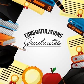 Congratulazioni sfondo di laurea