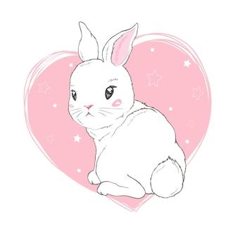 Coniglietta carina con corona