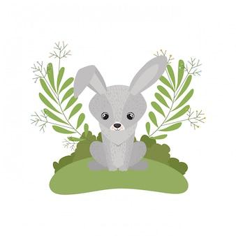 Coniglietto carino e adorabile con ghirlanda