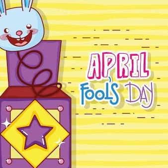 Coniglio scatola di umorismo per folli celebrazione del giorno