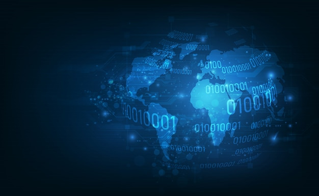 Connessione blockchain di rete globale.