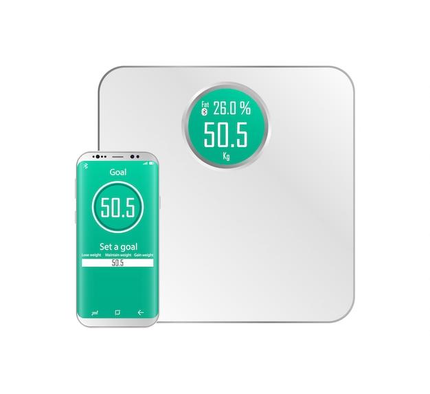 Connessione bluetooth delle bilance con uno smartphone.