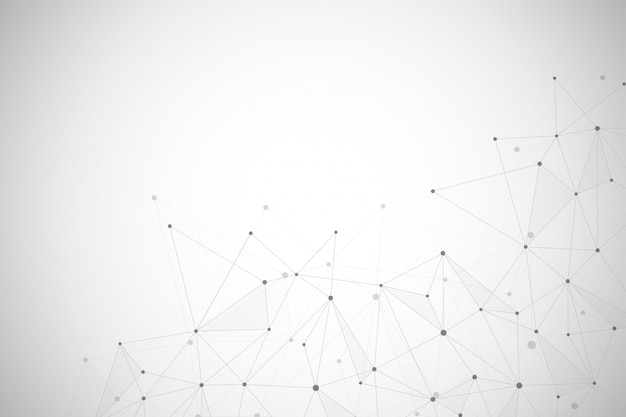 Connessione di rete astratta di punti e linee di fondo