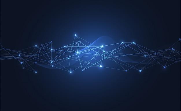 Connessione internet senso astratto della scienza