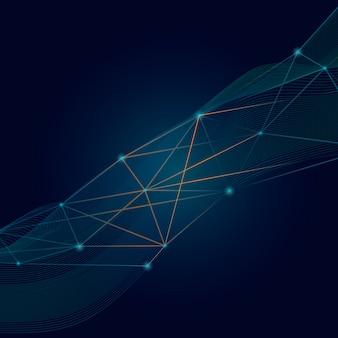 Connessioni sfondo blu