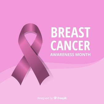 Consapevolezza del cancro al seno con nastro realistico