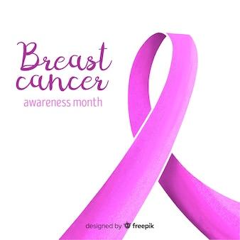 Consapevolezza del cancro al seno disegnato a mano con nastro