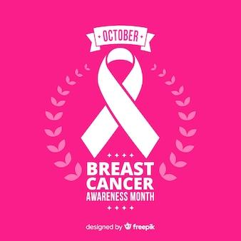 Consapevolezza del cancro al seno piatto con nastro