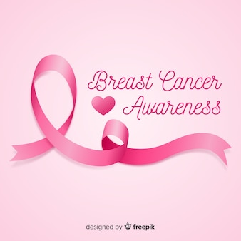 Consapevolezza del cancro al seno sfondo rosa