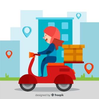 Consegna del motociclo,
