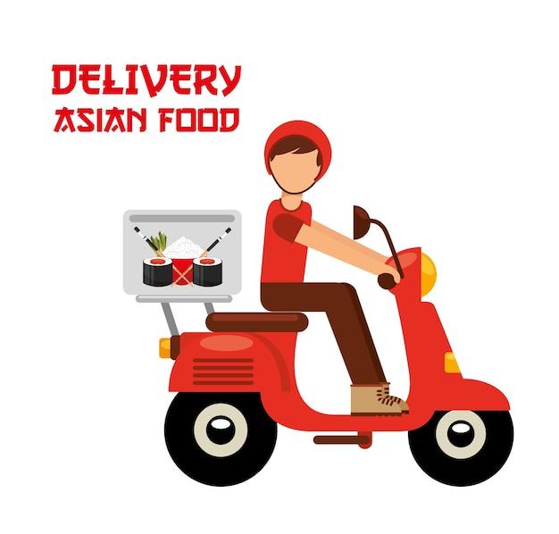 Consegna di cibo asiatico