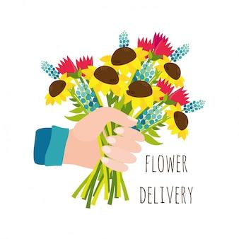Consegna di fiori
