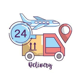 Consegna trasporto al servizio di ordine pacco