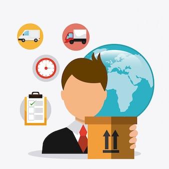 Consegna, trasporto e affari di logistica