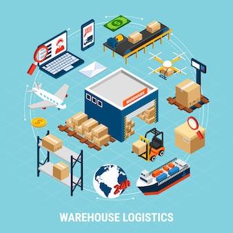 Consegna trasporto merci e merci illustrazione 3d