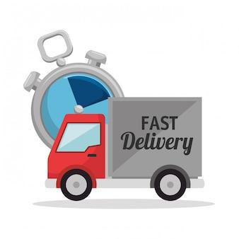Consegna veloce imposta icone