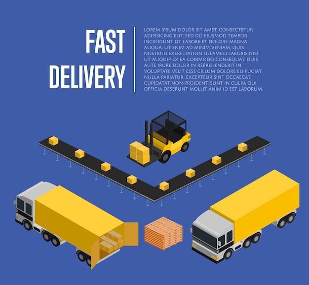 Consegna veloce isometrica