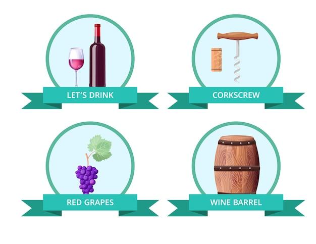 Consente di bere e cavatappi sull'illustrazione