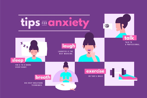 Consigli per l'ansia infografica
