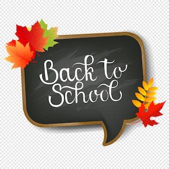 Consiglio scolastico e testo torna a scuola sfondo trasparente con maglia di gradiente, illustrazione