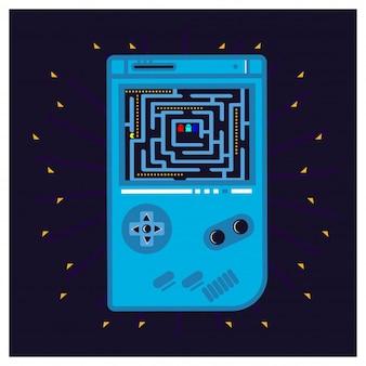 Console di gioco vettoriale