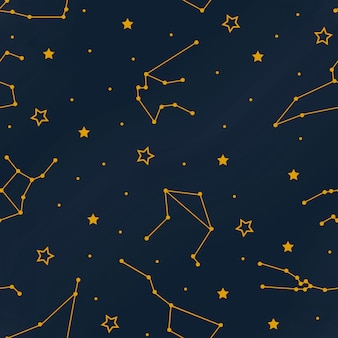 Constellations seamless pattern