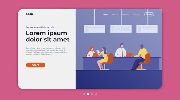 Consulenti bancari che parlano con i clienti