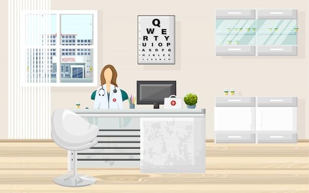 Consultazione del medico dell'ufficio medico