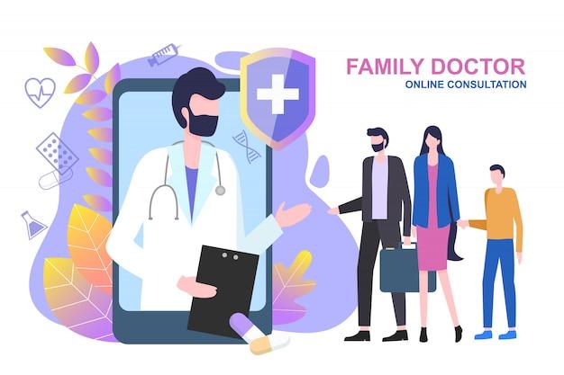 Consultazione online di un medico di famiglia