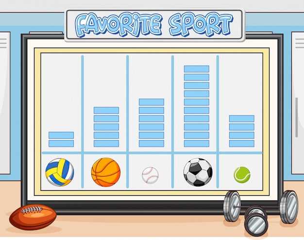 Conta il foglio di lavoro sport preferito