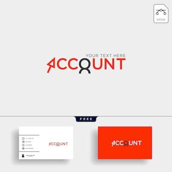 Contabilità, finanza modello logo creativo