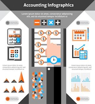 Contabilità infografica set
