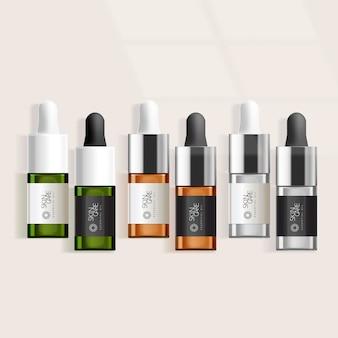 Contagoccia per olio essenziale organico naturale trasparente / verde / marrone