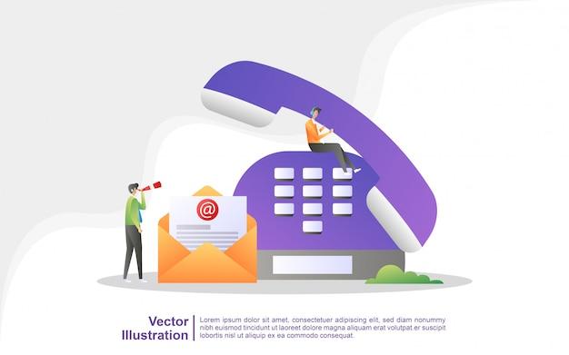 Contattaci concept. assistenza clienti 24/7, supporto online, help desk.