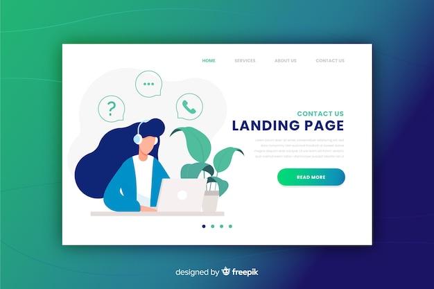 Contattaci concept per landing page
