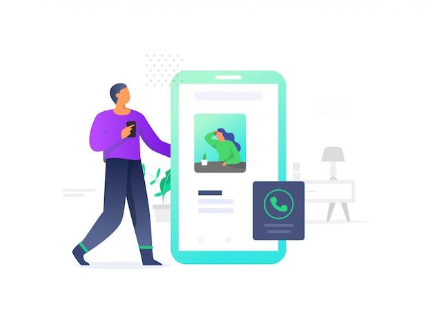 Contattaci illustrazione per app