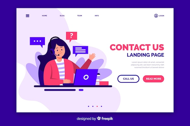 Contattaci landing page