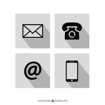 Contatti icone set