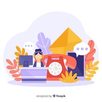 Contattici concetto per pagina di destinazione