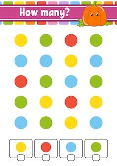 Conteggio del gioco per bambini in età prescolare.